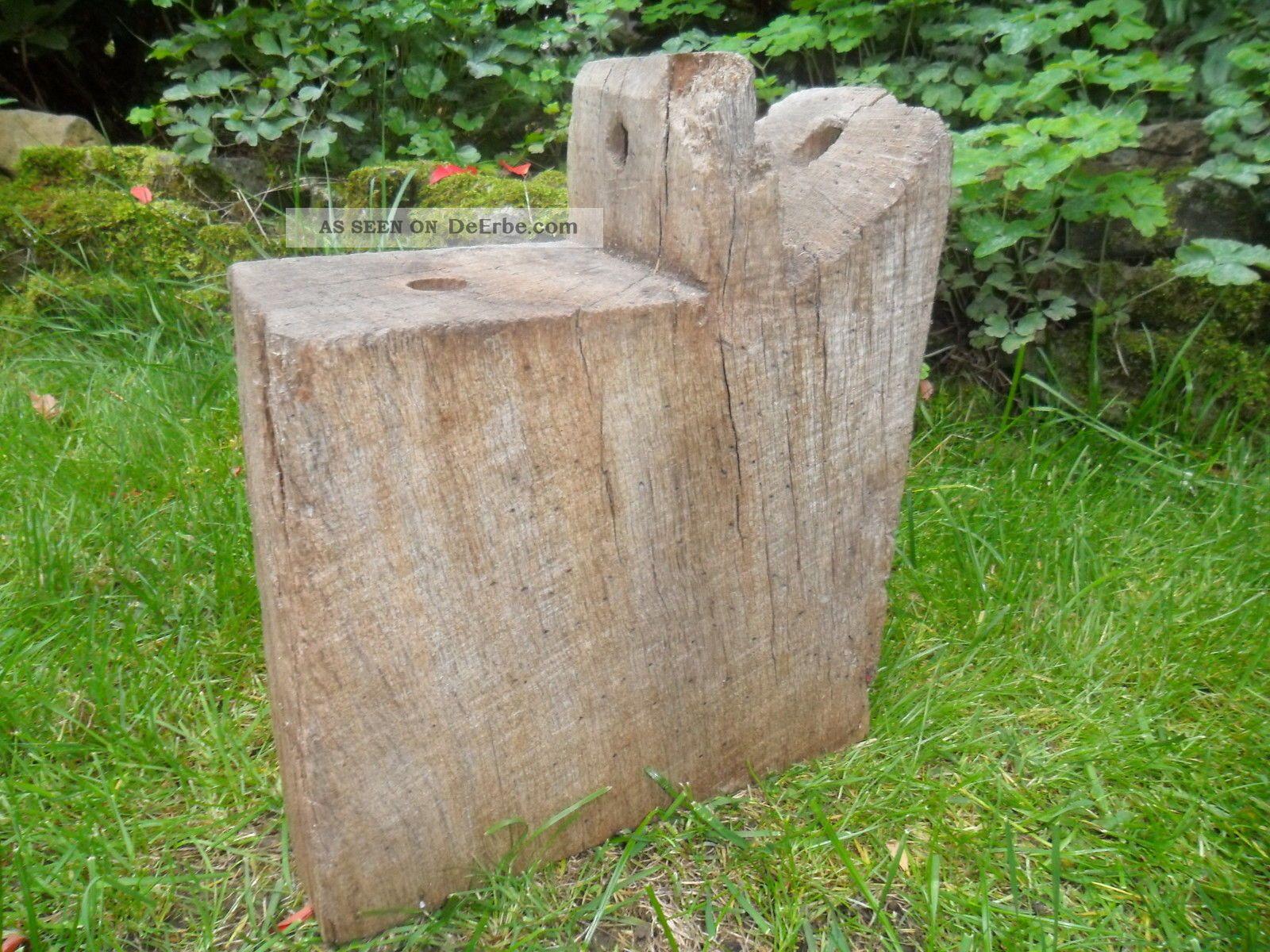 Eichenbalken Deko Alt Alter Eichenbalken Stele Skulptur
