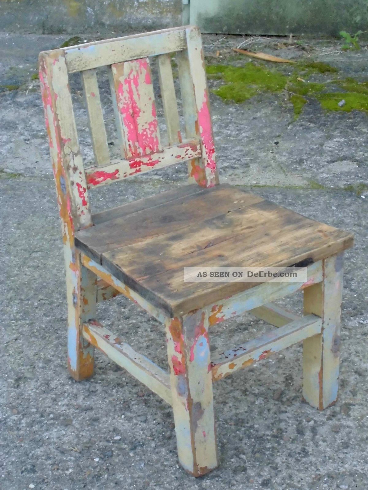 Sehr Alter Kinderstuhl Stuhl 1