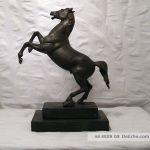 Alte Figur Skulptur Metall Pferd Hengst Auf Holz Sockel 28 Cm 1 8 Kg Antik