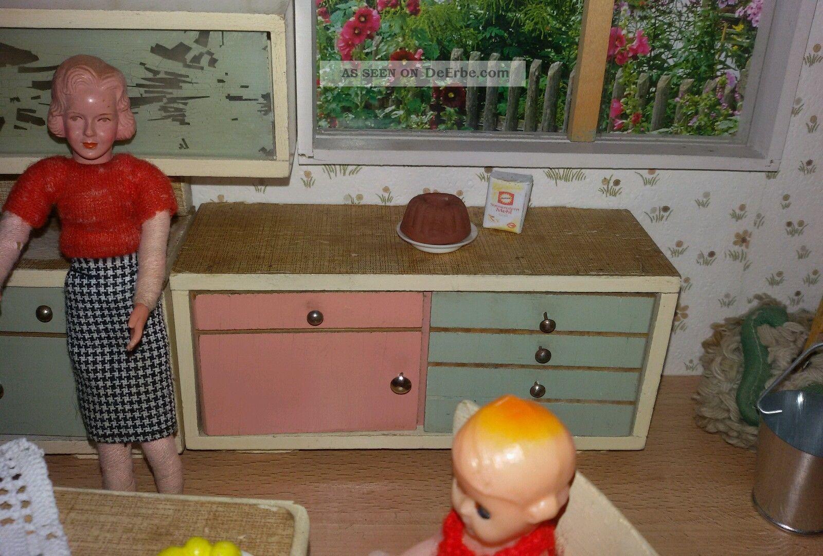 Küche 50 Er Jahre Aus Holz Für Die Puppenstube