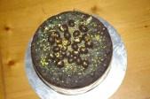 chocolate fruit Christmas cake