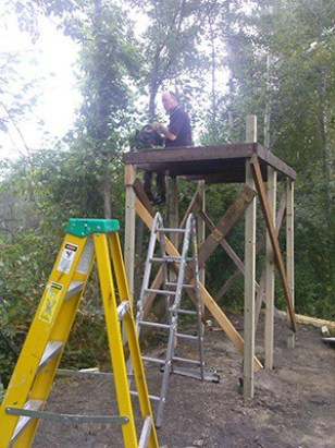 how to build hunting blind