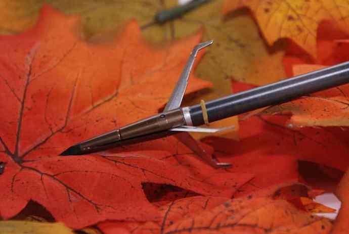 A broadhead arrow