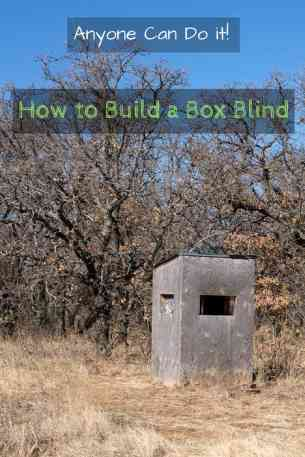 how to build a deer blind