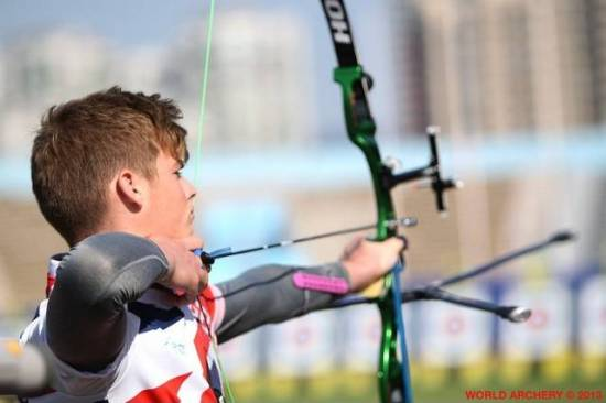 Tom representing GB & Deer Park Archers in China.