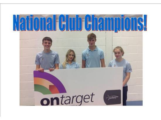 Winners of the inaugural Ontarget Competition. With today's rules none of those archers would be eligible as they all shot for GB.