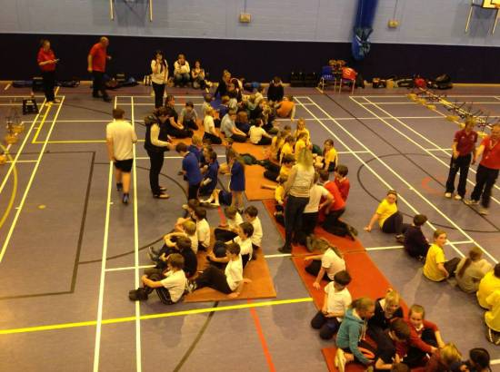 Primary schools District finals are challenging with up to 8 teams of 12 archers.