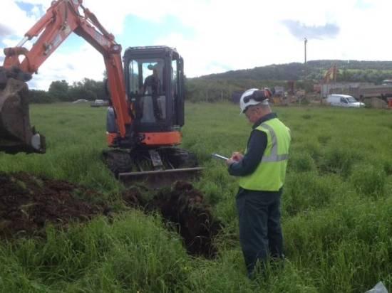 Environmental testing plus pilot holes to determine foundation type for club house!