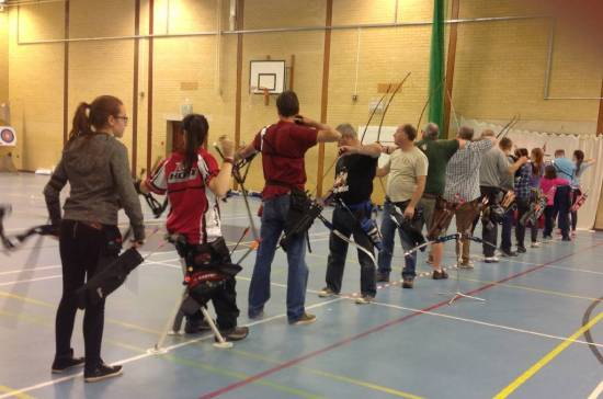 Some of the 32 archers competing in the Club Portsmouth.