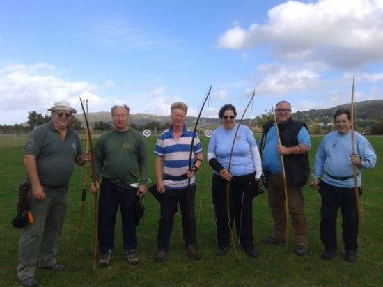 Six of our best longbow archers had a great time at the annual St Leonard's Competition!