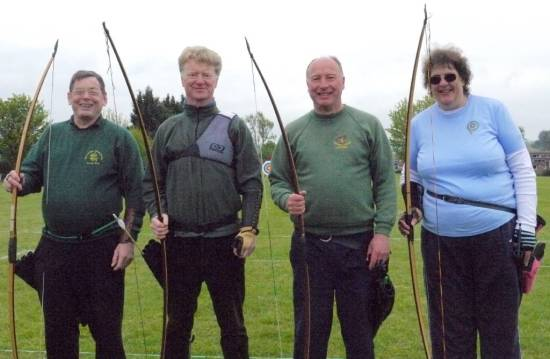 Our Longbow team, made so welcome by Tyndale Archers.
