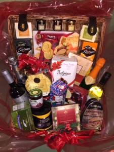 Top layer of an incredible Christmas Hamper, who will be the lucky winner?