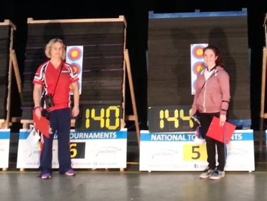 Lucy Mason's winning score in the final against Andrea Gales.