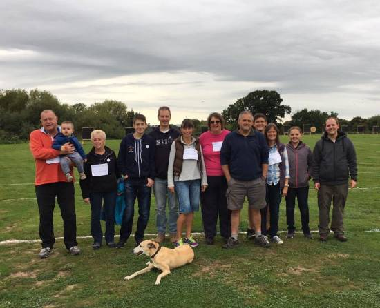 Some of the group that did the sponsored walk.