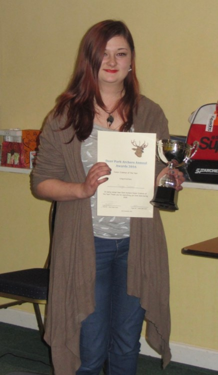 Paige Tucker - Winner of Young Club Person of the Year for the second time!