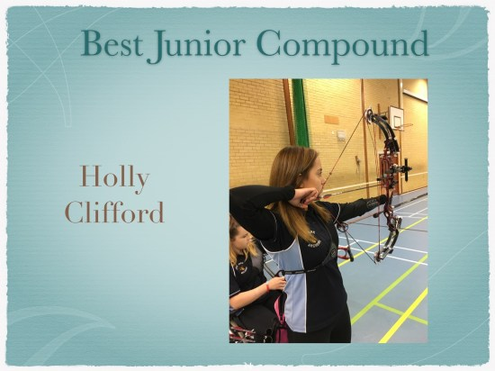 Holly Clifford British Champion! Last Week she won the Best Junior Compound at the Club Annual Awards evening.the