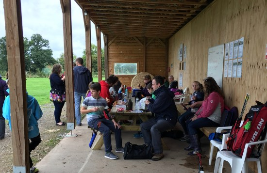 Social picnic before taking on a mixed course of 2D & 3D targets.