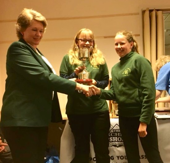 Regional Inter-Counties Barebow Team Champions. Imogen & Emily.