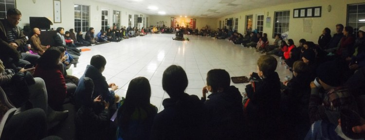 Gathering in Solidity Meditation Hall