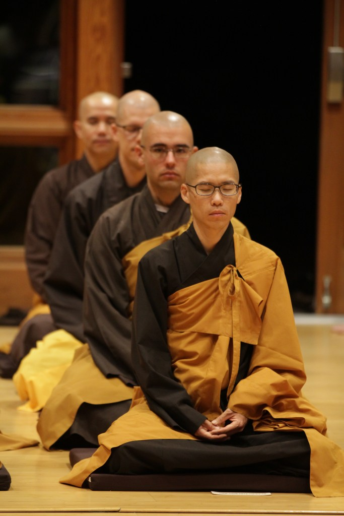 Bhikshus at Great Precepts Transmission Ceremony 2021