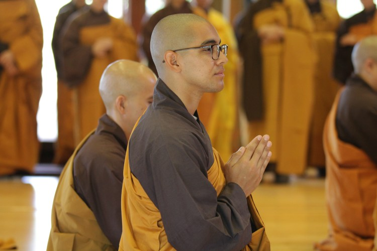 Br. Minh Nhan at Great Precepts Transmission Ceremony 2021