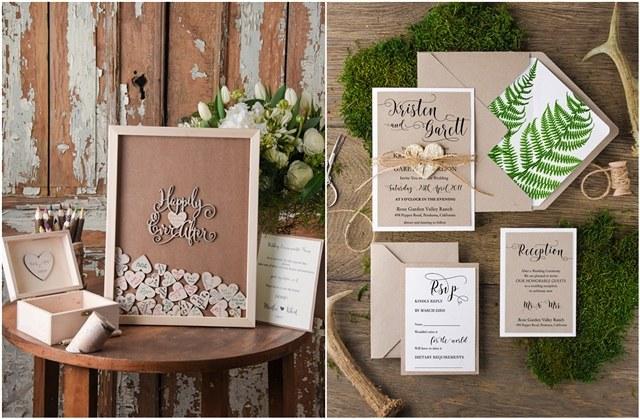Top 12 Rustic Wedding Guest Books & Botanical Wedding