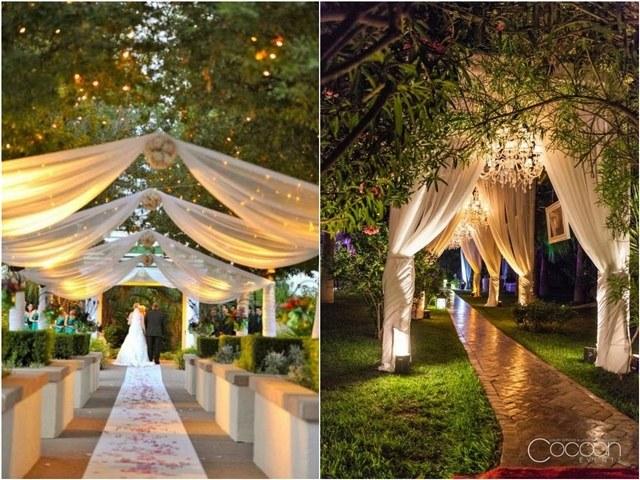 20 Creative Wedding Entrance Walkway Decor Ideas