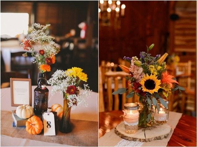45 Fall & Autumn Wedding Centerpieces Ideas
