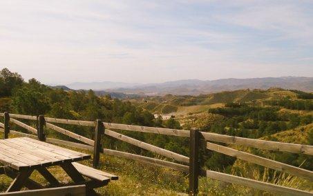 Picnic area, view towards east coast of Spain
