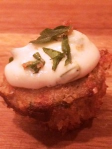 Crab Cake Bite w/Aioli Sauce