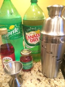 Ingredients-Shirley Temple Drinks