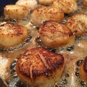 Caramelizing Scallops