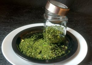 Kasuri methi (dry fenugreek leaves) is ready to use!
