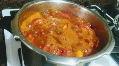Boil tomatoes without lid