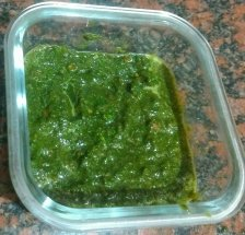 Mint puree is ready for mint rice
