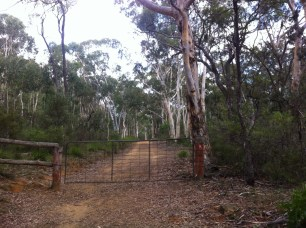 Locked property gate