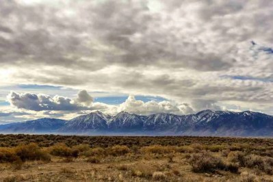 Print of Mountains and Fields in South Carson Valley Photo