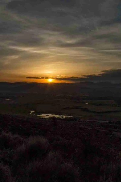 Print of a Carson Valley Sunrise on a Cloudy Day