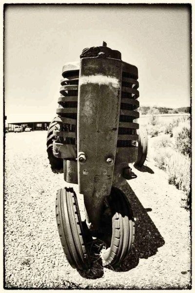 Print of an Old Dilapidated Tractor