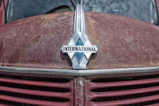 Print of a Rusty International Truck Hood