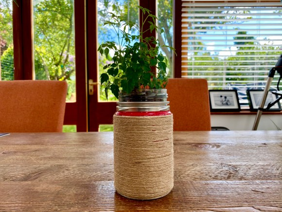 Upcycled coffee container