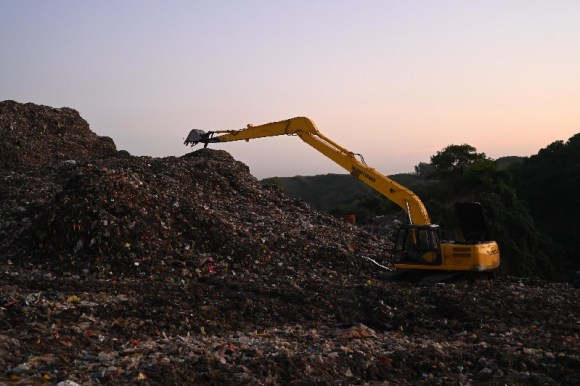 Landfill in a developing nation