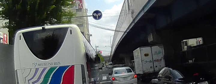 環八-高井戸陸橋側道-上高井戸一丁目交差点は直進できない?