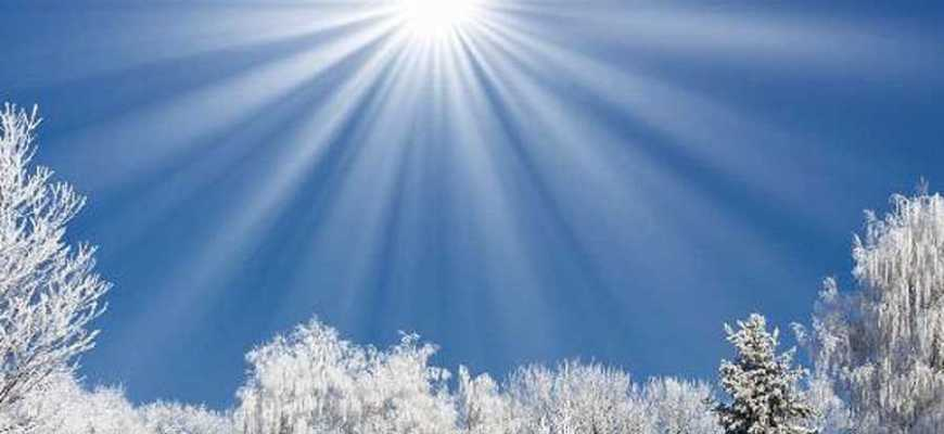 солнце зимой