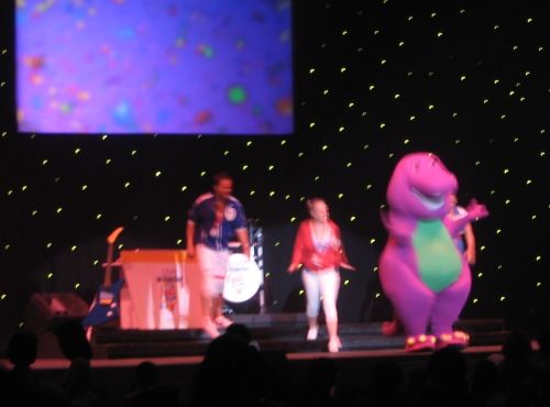 barney on stage