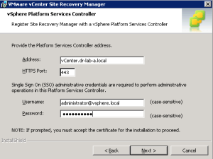 upgrade Site Recovery Manager 5.8