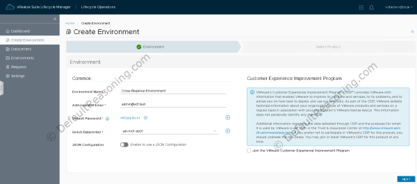 Automated deployment of vRealize Suite in VCF 4.1 - Create Environment