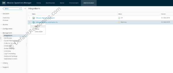 automated deployment of vRealize Suite in VCF 4.1 - vRA vROps integration