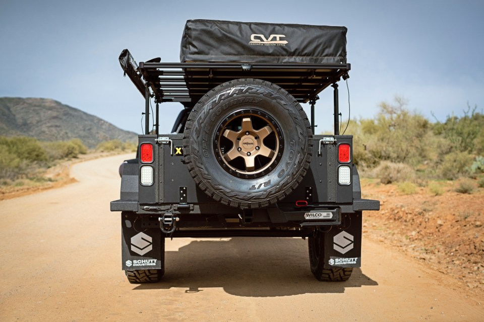 xventure offroad trailer wilco spare tire carrier