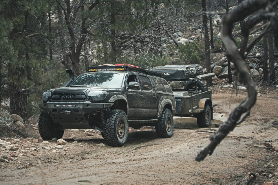 toyota tacoma xventure offroad trailer